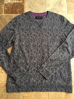 Ted Baker London Men/'s Sweatshirt Patterned Long Sleeve Jumper Ribbed Trim BNWT