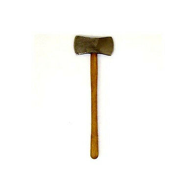 Dollhouse Sir Thomas Thumb Double Bitted Axe 1:12 Handcrafted Miniature Tool
