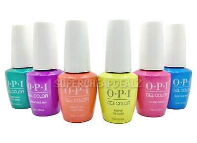 OPI GelColor Soak-Off Gel Nail Polish 0.5 oz NEON COLLECTION - NEW AUTHENTIC
