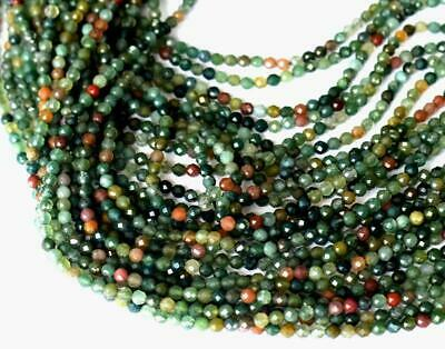 """Natural Fine Micro Faceted Agate Beads Round 3 Mm 12"""" Strand 1 Line #D19753"""