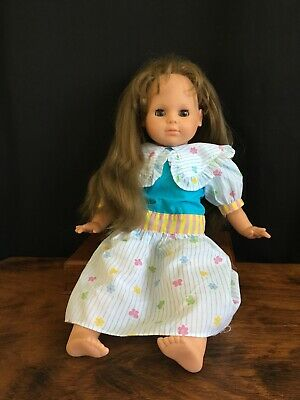 Vintage 1986 Max Zapf Creations Brown Eyes & Hair 50cm Doll