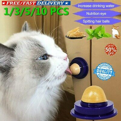 Healthy Cat Snacks Catnip Sugar Candy Licking Solid Nutrition Energy Ball Toy OK