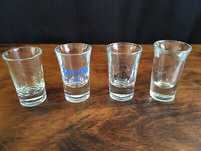 Collectable Shot Glass x 4; Wild Turkey, Galliano, Bacchus Shooter, Opal Nera 1e