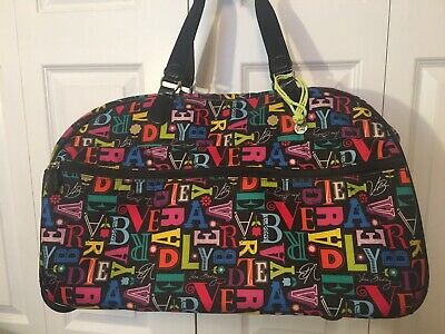 Vera Bradley Rolling From A To Vera Duffel Carry On Travel Luggage Suitcase