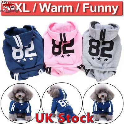 UK Pet Dog Sweater Hoodies Jacket Coat For Small Cat Puppy Warm Costume Apparel