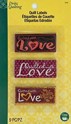 Dritz Quilting Sew in Embroidered Labels Love