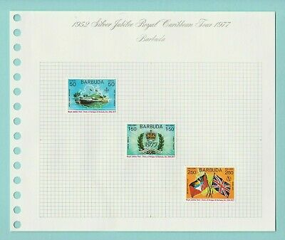 Stamps - British  Commonwealth - Silver Jubilee Royal Caribbean Tour - 1977 (B)