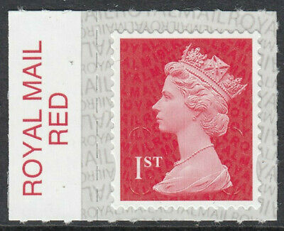 2019 1st CLASS S/A MACHIN M19L ROYAL MAIL RED on SELVEDGE MNH From Counter Sheet