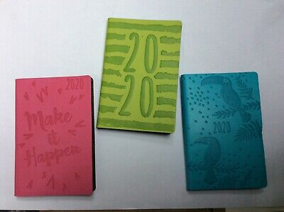 2020 Week to View Pocket Diary - Embossed Design choice of 3 colours