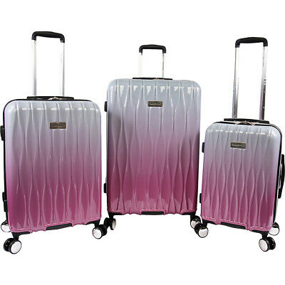 Juicy Couture Lindsay 3 Piece Hardside Spinner Luggage Luggage Set NEW