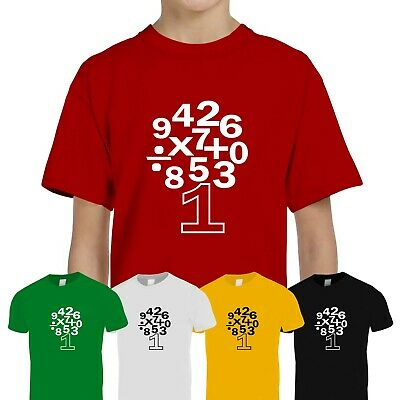 Kids Boys Girls Number Day 2020 Maths Day School Friday Feb 7th Tee T-Shirt Top