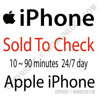 Apple iPhone Check SOLD to by info check by IMEI Checker Report Service
