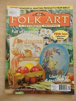 Folk Art & Decorative Painting Vol 10 #1~Ardmona~Pen & Wash~Fairy~Teddies~Flora