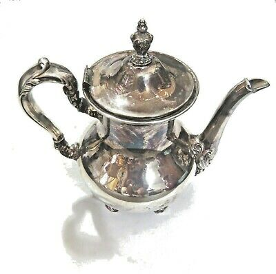 Vintage Poole Old English 5000 Silver Plate Coffee Pot 9""