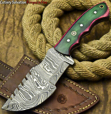 Custom Handmade Damascus Steel Hunting Tracker Blade Hunter Full Tang Knife