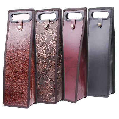 Leather Wine Bottle Bags Carrier Tote Bag Carrying Case Travel Christmas Gift