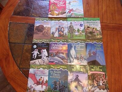 Lot of 14 Magic Tree House children books by Mary Pope Osborne