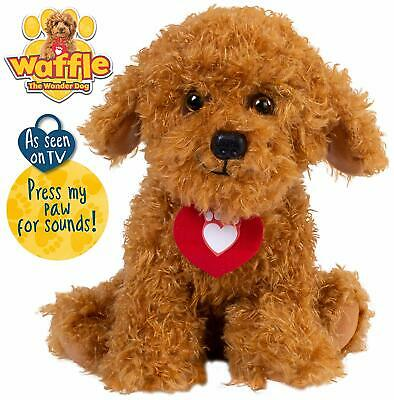 Waffle the Wonder Dog Soft Toy With Sounds 3 LR44 Batteries Included Brand New