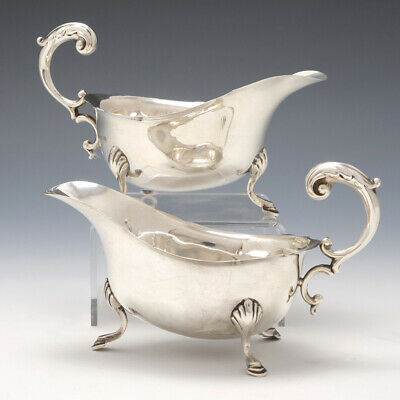 Pair of Sterling Silver Sauceboats Birmingham 1913