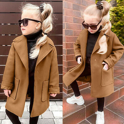 Autumn Winter Toddler Baby Girls Kids Warm Coat Solid Cardigan Outerwear Jacket