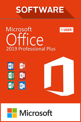 Microsoft Office 2019 Professional Plus Lizenz Key, 32&64Bit, Vollversion