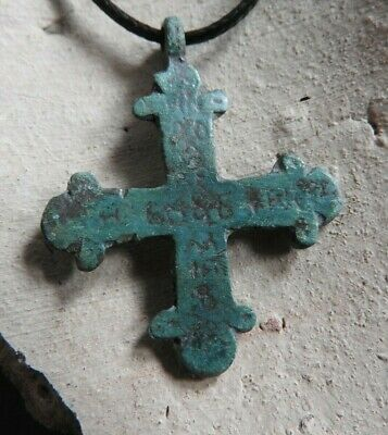 Viking Cross with the inscription Jesus Christ de Lord Son of God 10-11 AD