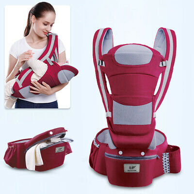 Ergonomic Baby Carrier Infant Kid Hipseat Backpack Front Facing Sling Removable.