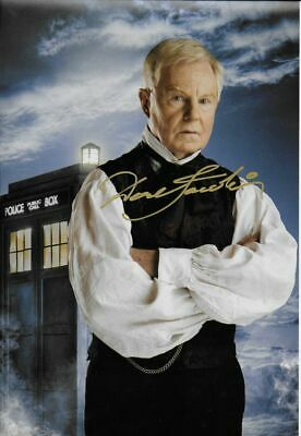 DR WHO personally signed 12x8 - DEREK JACOBI as THE MASTER