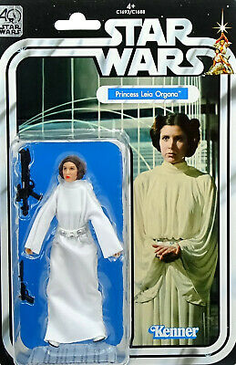 "STAR WARS 40th ANNIVERSARY COLLECTION PRINCESS LEIA ORGANA 6"" INCH VON HASBRO"