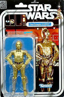 "STAR WARS 40th ANNIVERSARY COLLECTION C-3PO ""A NEW HOPE"" 6"" INCH PASSED HASBRO"