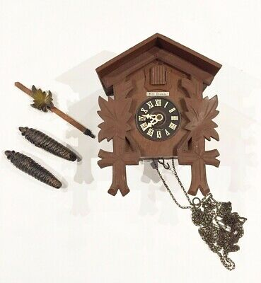 Antique vintage Seth Thomas volks Cuckoo Clock Restoration GERMANY parts wood