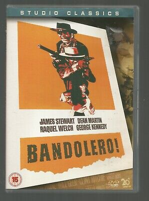 BANDOLERO - Raquel Welch / James Stewart / Dean Martin - UK REGION 2 DVD - vgc