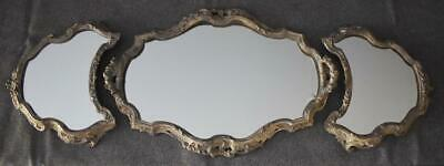 Gorgeous Victorian Era Antique French 3-Piece Mirrored Table Centerpiece Plateau
