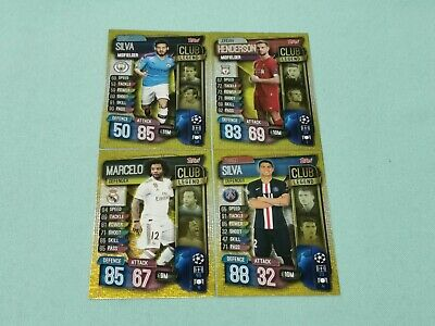 Topps Match Attax Champions League 2019/2020 alle 4 Club Legends  19/20