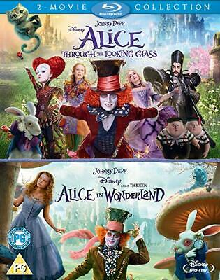 Alice in Wonderland & Through the Looking Glass 2 Movie Blu-Ray Box Set NEW