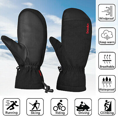 -30℃ Waterproof Ski Mittens Winter Snow Thermal Motorcycling Snowboard Gloves US