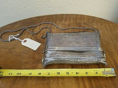 Antique South East Asian .925 Sterling Silver Woven Purse/Bag/Clutch  365 Grams
