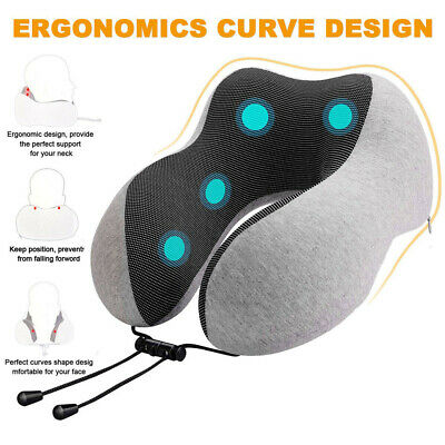 Memory Foam U-Shaped Travel Pillows Neck Support Head Rest Car & Airplane Sleep