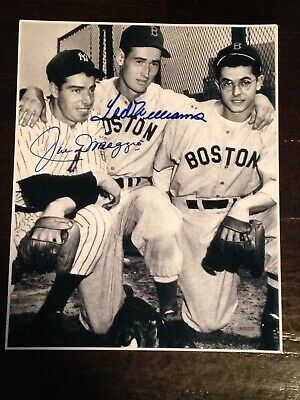 Ted Williams / Joe DiMaggio Signed 8x10 Photo .   Certified With COA