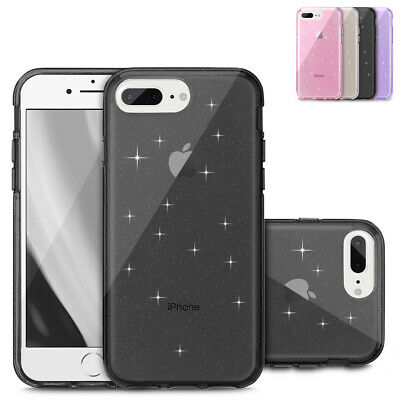 For Apple iPhone 7 Plus Protective Back PC Transparent Soft Silicone Gel Cover