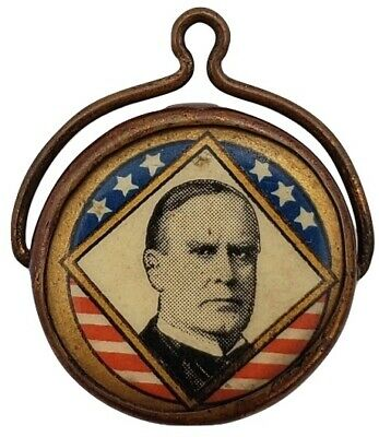 President William McKinley Campaign Mounted Disk