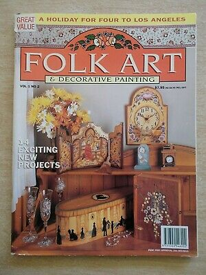 Folk Art & Decorative Painting Vol 1 #2~Mariner's Trunk~Clocks~Plate~Tray~Rack..