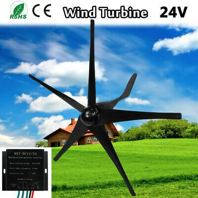 700W 5 Blades 24V High Powered Wind Turbine Generator Battery Charge Controller