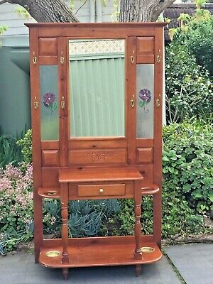 Antique Country Style Pine Hall Stand!