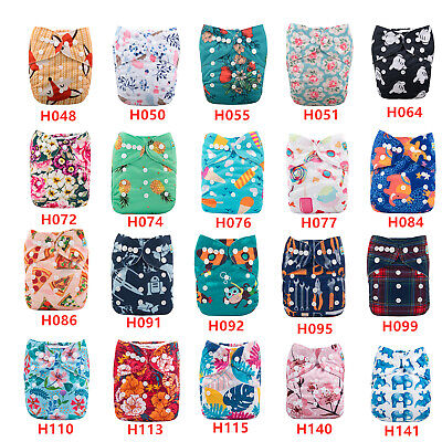 ALVA Baby Cloth Nappies Lot One Size Reusable Washable Pocket Cloth Diapers
