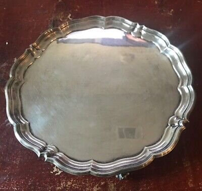 Antique English Silver Plated Footed Tray Harrison Brothers & Howson Sheffield