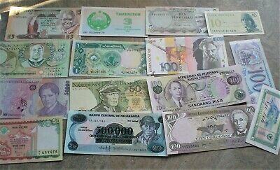 Collection of 50 Uncirculated Banknotes from around the World,, [E053}