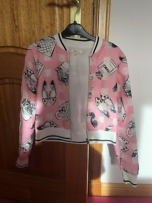 Miss Grant Pink Bomber Jacket SiZe 38 (age 10)