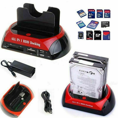 """Docking Station All In 1 Hard Disk Sata Ide 3,5"""" 2,5 Lettore Hdd Box Case"""