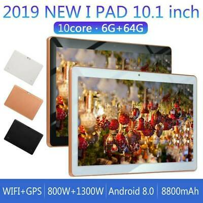 10.1 Pollici 4GB+64GB Tablet Pc Bluetooth Android 8.1 Octa 10 Core Wifi 2 Sim PP